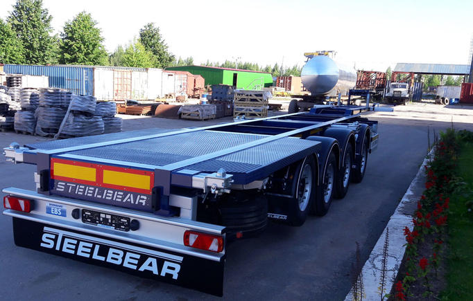 Четырёхосный 7-ми балочный полуприцеп-контейнеровоз – новинка от STEELBEAR!